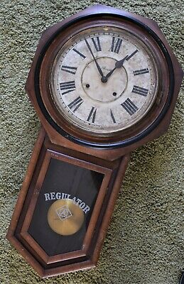 Ansonia School Clock Regulator Large.Vintage.