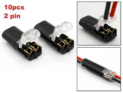 10pcs Fast Wire Connector 18-24AWG Wire Clamp Terminal Quick Cable Connection 2p