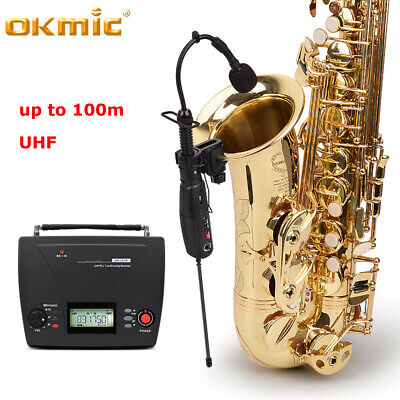 UHF Professional Wireless Microphone System for Violin Saxophone Guitar Bass Sax