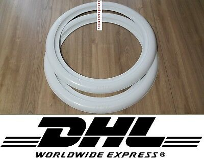 "White Wall ''13"" 14"" and 15'' ATLAS 2'' New! Car Tire insert Trim 2 pcs spare"