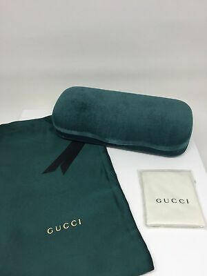 New Large Gucci Case Hard Shell Sunglasses & Eyeglasses Green Velvet Case