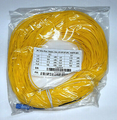 ST/UPC-SC/UPC Fiber Optic OTDR Launch Cable 100 meters SM 1310/1550nm Singlemode