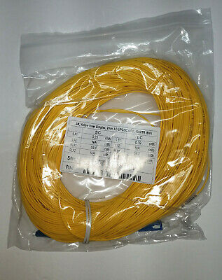 LC/UPC-SC/UPC Fiber Optic OTDR Launch Cable 100 meters SM 1310/1550nm Singlemode