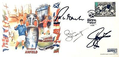 Robbie Fowler John Barnes Phil Thompson SIGNED Liverpool ANFIELD First Day Cover