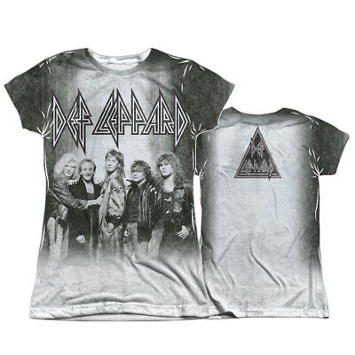 Def Leppard THE BAND 1-Sided Sublimated Big Print Poly T-Shirt