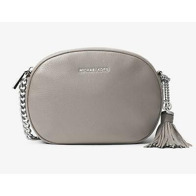 53d9f0e7ec5 Michael Kors Ginny Medium Leather Crossbody Bag - Pearl Grey -  30H6SGNM2L-513
