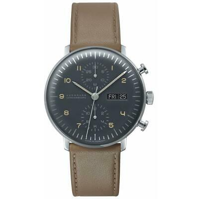 Junghans Men's Max Bill 40mm Brown Leather Band Automatic Watch 027/4501.01