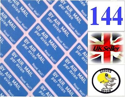 144 Air Mail Sticker postage, royal mail, letter, UK Seller