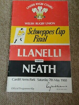 Rugby Union programmes WALES IRELAND 04.04.1987 INTERNATIONAL