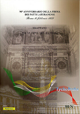 Folder Laterans Pact Vatican Italy 2019 Joint Mnh Vaticano Fdc First Day Cover