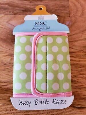 L@@k! MSC mainstreet collection kodl/6345 lime dot baby bottle koozie