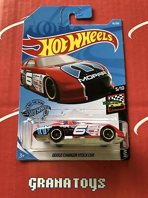 Dodge Charger Stock Car #76 Red 2019 Hot Wheels Case K