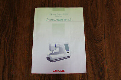 Janome Memory Craft 1000 Instruction Book