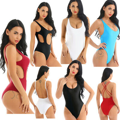 Womens Backless Monokini Swimsuit Beachwear Swimwear Hollow Out Bikini Bathing