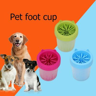 Silicone Plastic Dog Foot Clean Cup Puppy Soft Pet Paw Washing Brush Feet Washer