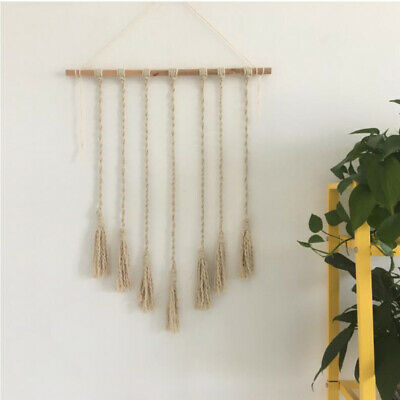 Cotton Rope Tasel Wall Hanging Tapestries Decorative Wall Carpet Yoga Mats D