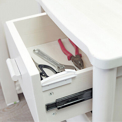 Baby Safe Protection Invisible Latch Lock Safety Child Drawer Door Cabinet WE