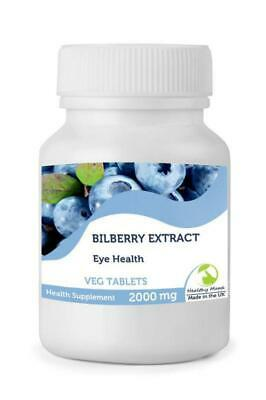 Bilberry Extract Eye Health 2000mg Extract 30 Tablets British Quality