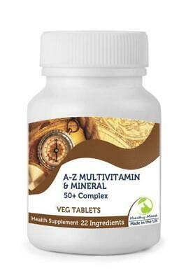 50+ Plus A-Z Multivitamin & Mineral 23 Micronutrients Complex 250 Veg Tablets Br