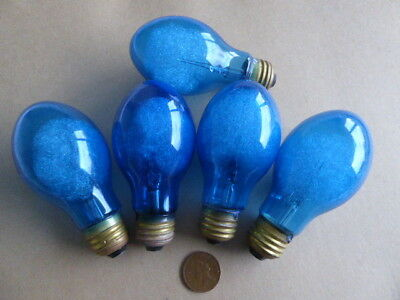 5xPhillips PF60 Blue type ES large flashbulbs, M22B. for M.P.P. Graphic guns etc