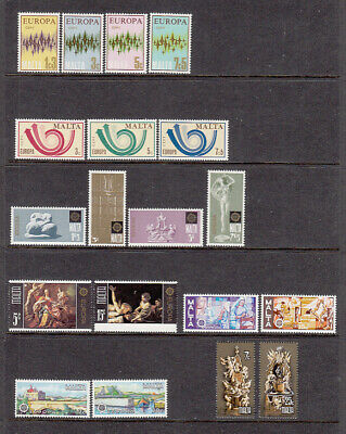 Malta    Europa  Cept  mnh  23 Different Sets as scans