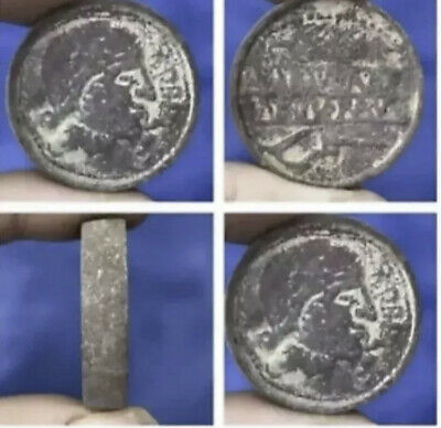 Antique Old Roman party Written Double said pictures Bronze Coin