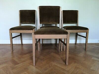 vintage retro mid-century Gordon Russell of Broadway Oak dining chairs x 4 1960s