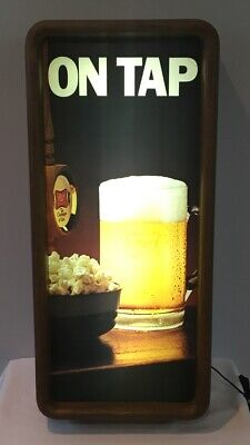 "VTG 1983 Miller High Life Beer On Tap Light Up 25"" Bar or Man Cave Wall Sign 1B"
