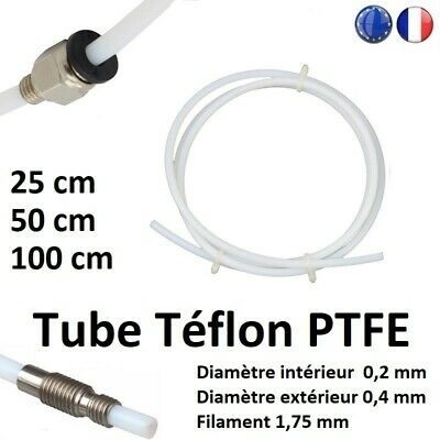 PTFE Teflon Bowden Tube 2.0mm ID 4.0mm OD, 1.75 Filament Imprimante 3D Printer