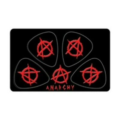 PikCard Anarchy 4 Guitar Picks Plectrums in Wallet-Sized Card