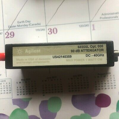 Agilent 84906L Step Attenuator 90dB DC-40GHz 2.92mm