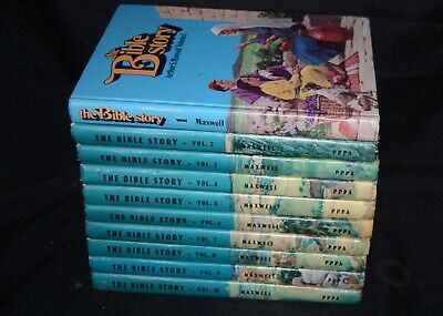 THE BIBLE STORY Vol 1-10 Complete HC SET 1950's ARTHUR MAXWELL PPPA Vintage