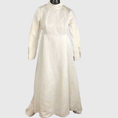 Bianchi Vintage Ivory Wedding Dress Long Sleeve 1940s Womens XXS Revival Gown