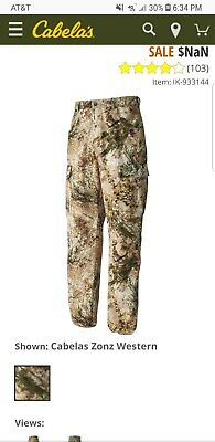 467f2ecffc5c1 New with tags Cabela's 933144 Men's Size 36 Microtex Six-Pocket Pants