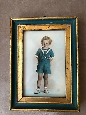 Vintage Child's Color Framed Photograph