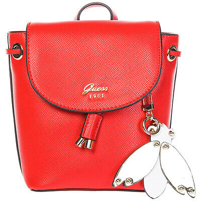 Guess Women's Shoulder Bag New Original Varsity Pop Mini Red 7Da