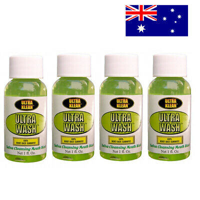 4X Ultra Klean Mouth Wash Detox Saliva Cleansing Toxin 4 Packs Toxin FREE