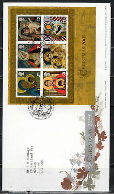 2005 Great Britain Stamps Fdc Cover First Day Issue Christmas  Lot 5999