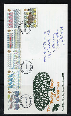 1977 Great Britain Stamps Fdc Cover First Day Issue Used  Lot  5693