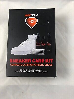 Sof Sole Athletic Sneaker Care Kit Shoe Cleaner Freshener Shield Brush 82448