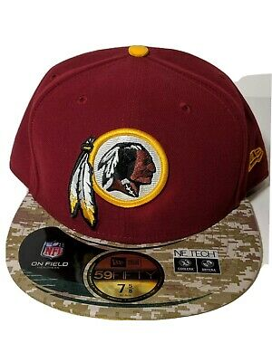 fb6ad39a734acd Washington Redskins New Era NFL Salute to Service OnField Camo Flat Brim Hat  Cap