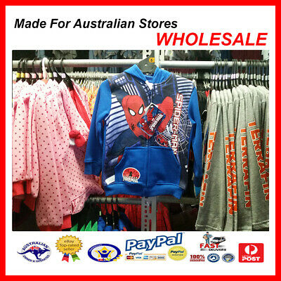AUS WHOLESALE KIDS BOYS CLOTHING  Spiderman Hooded Jacket MYER STOCK From $10