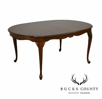 Pennsylvania House Cherry Oval Queen Anne Dining Table with 3 Leaves