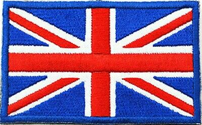 British UK Flag Union Jack 4.5x3.2-cm Iron-on Embroidered Patch Jacket Badge