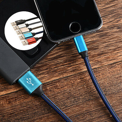 Braided Fabric Micro USB Data&Sync Charger Cable Cord For iPhone 6 6S Plus 1M/2M