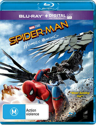 NEW SEALED Spider-Man - Homecoming (Blu-ray + Digital) FAST FREE SHIPPING