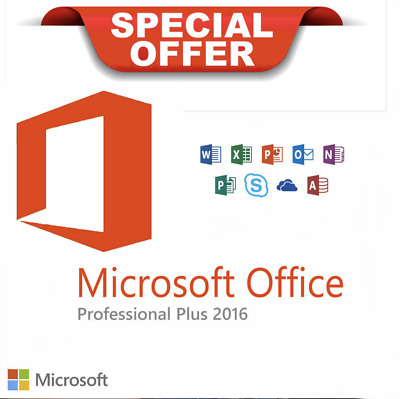 Microsoft Office 2016 Professional Plus 32/64BIT MS PRO PLUS Produktschlüssel