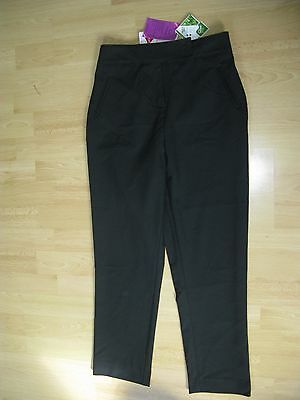 Y John Lewis black trousers 12 years BNWT girls kids Shield pro TEFLON