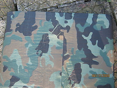 Tarpaulin In Woodland Camouflage Strong And Waterproof 3m x 5m