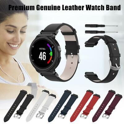 Genuine Leather Watch Band Strap For Garmin Forerunner 735XT 220 230 235 620 630
